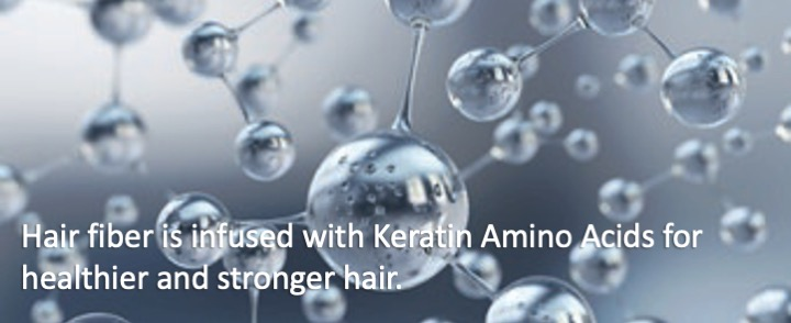 hair fiber is infused with keratin amino acids for healthier stronger hair